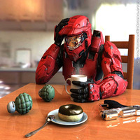 Funny pictures halo coffee break